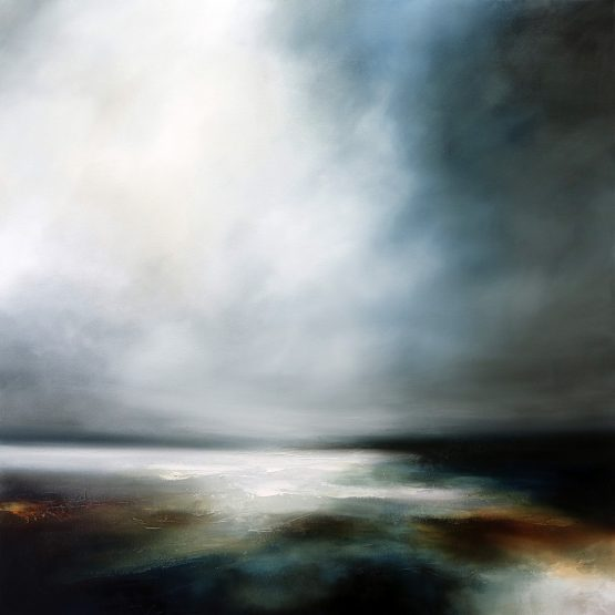 And the Skies Fall Seascape and Landscape Painting