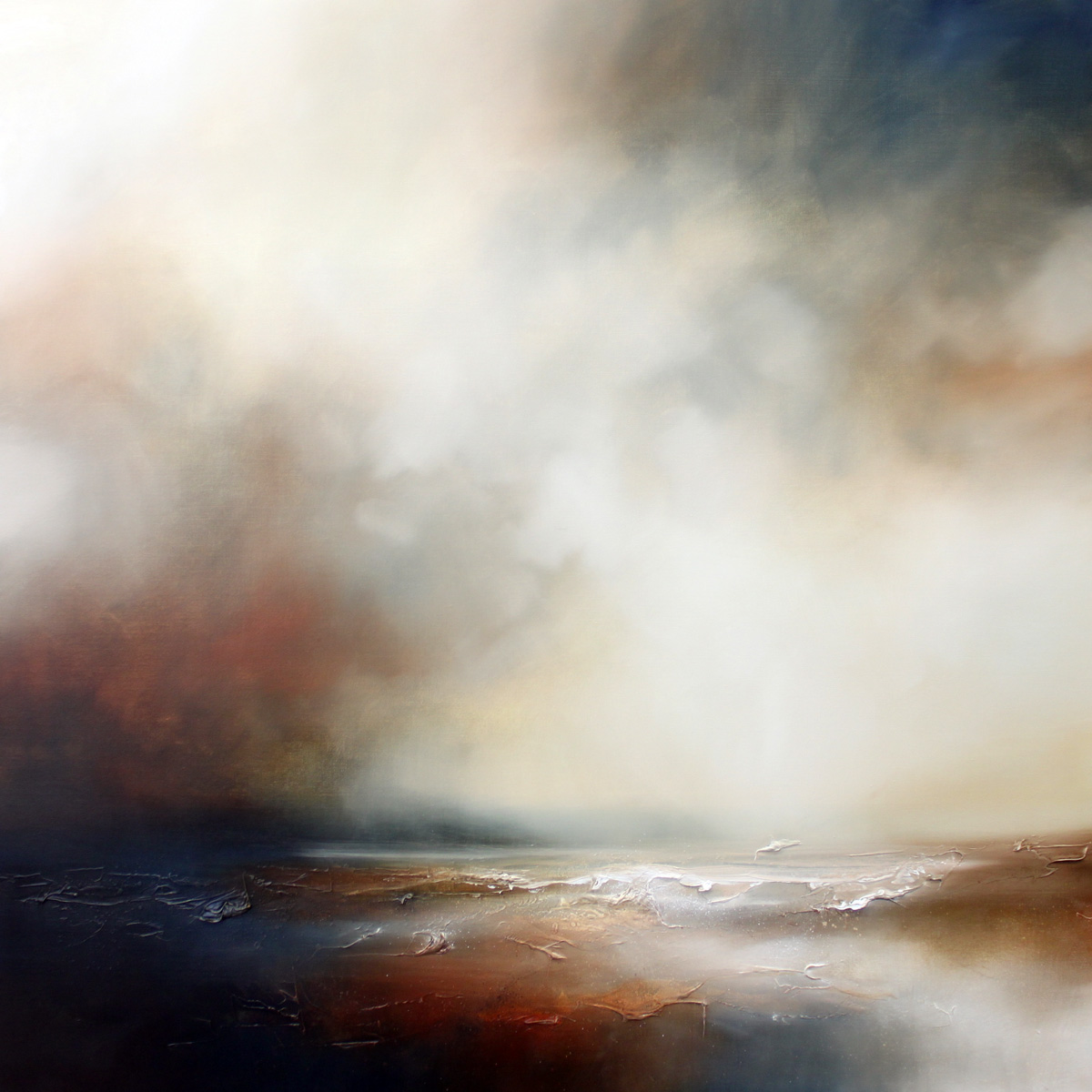 At the Edge of the World 2 Seascape and Landscape Painting