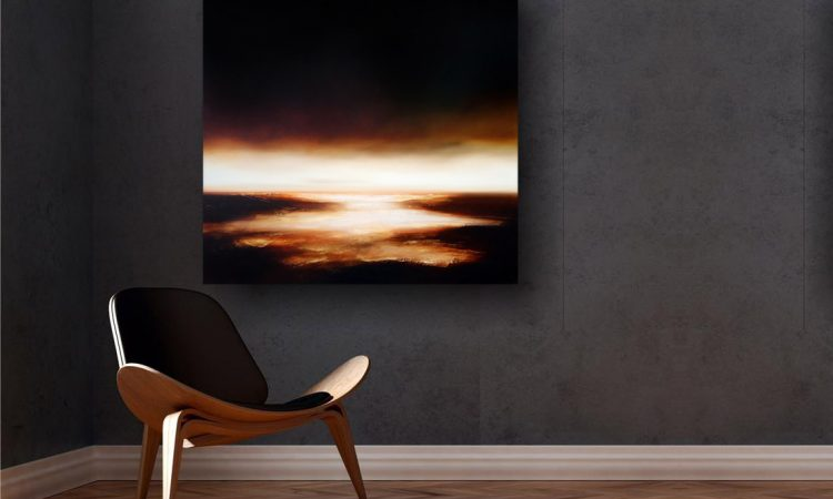 Below the Deepening Sky Seascape and Landscape Painting