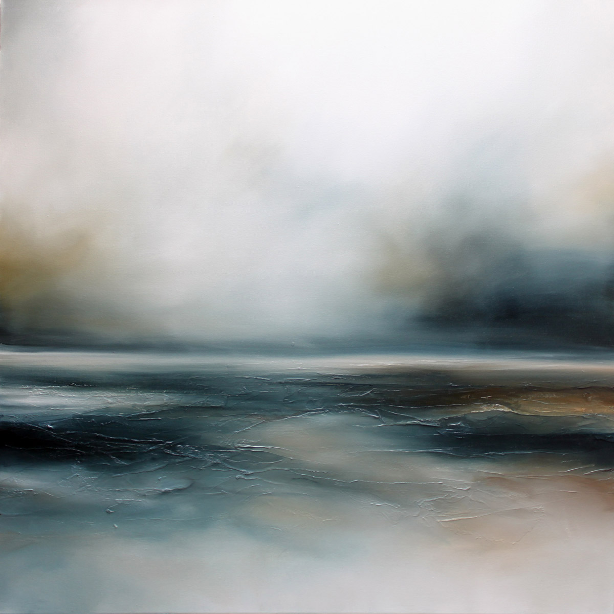 Beyond the Lonely Seascape and Landscape Painting