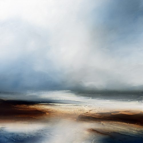 Beyond the Northern Seas Seascape and Landscape Painting
