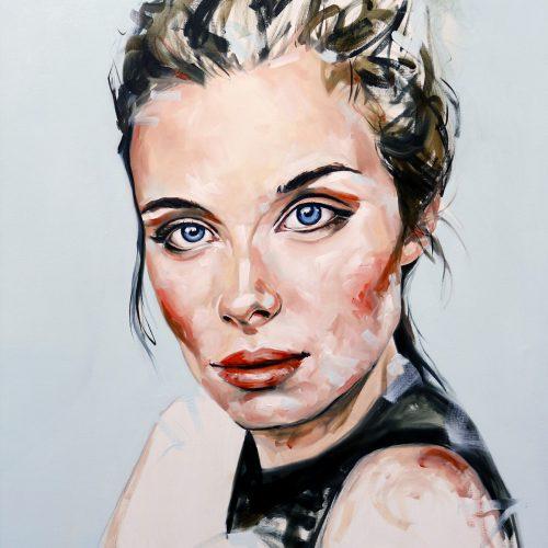 Blue Honey Portrait Painting