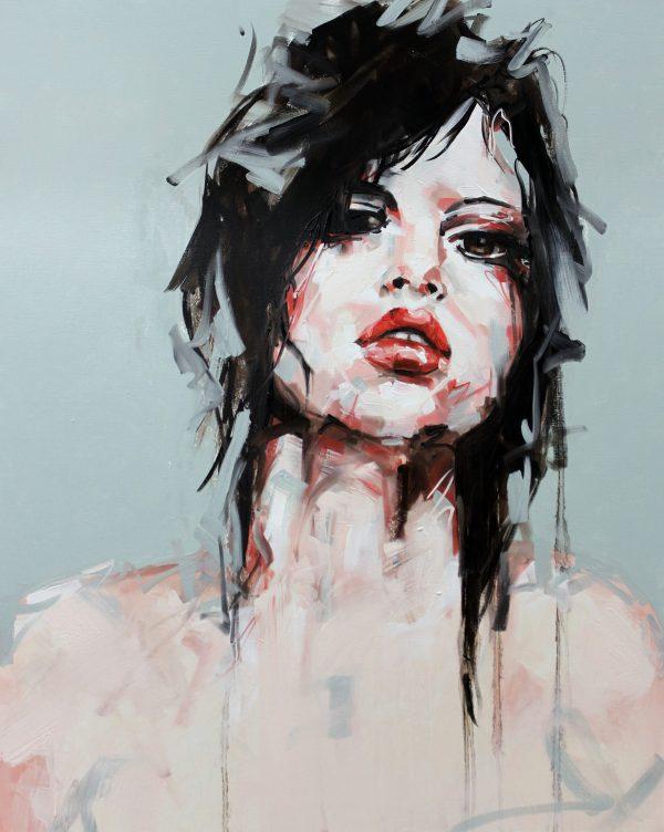 Blue Light Portrait Painting