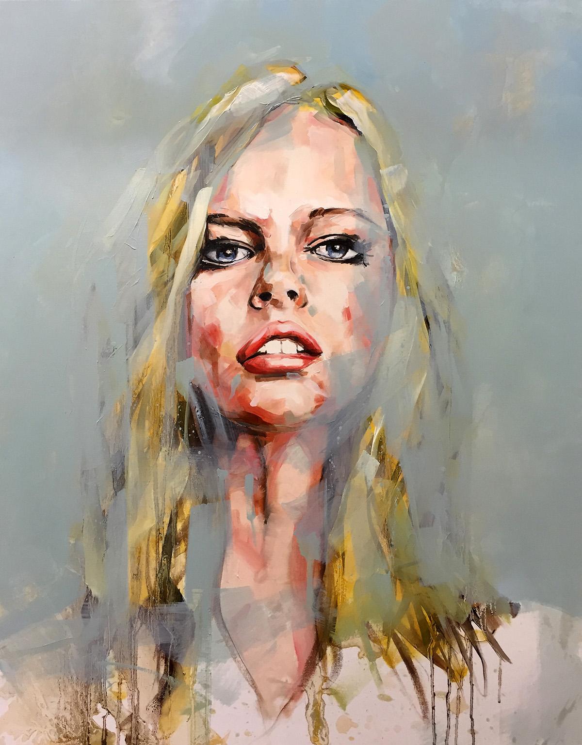 Camouflage Portrait Painting