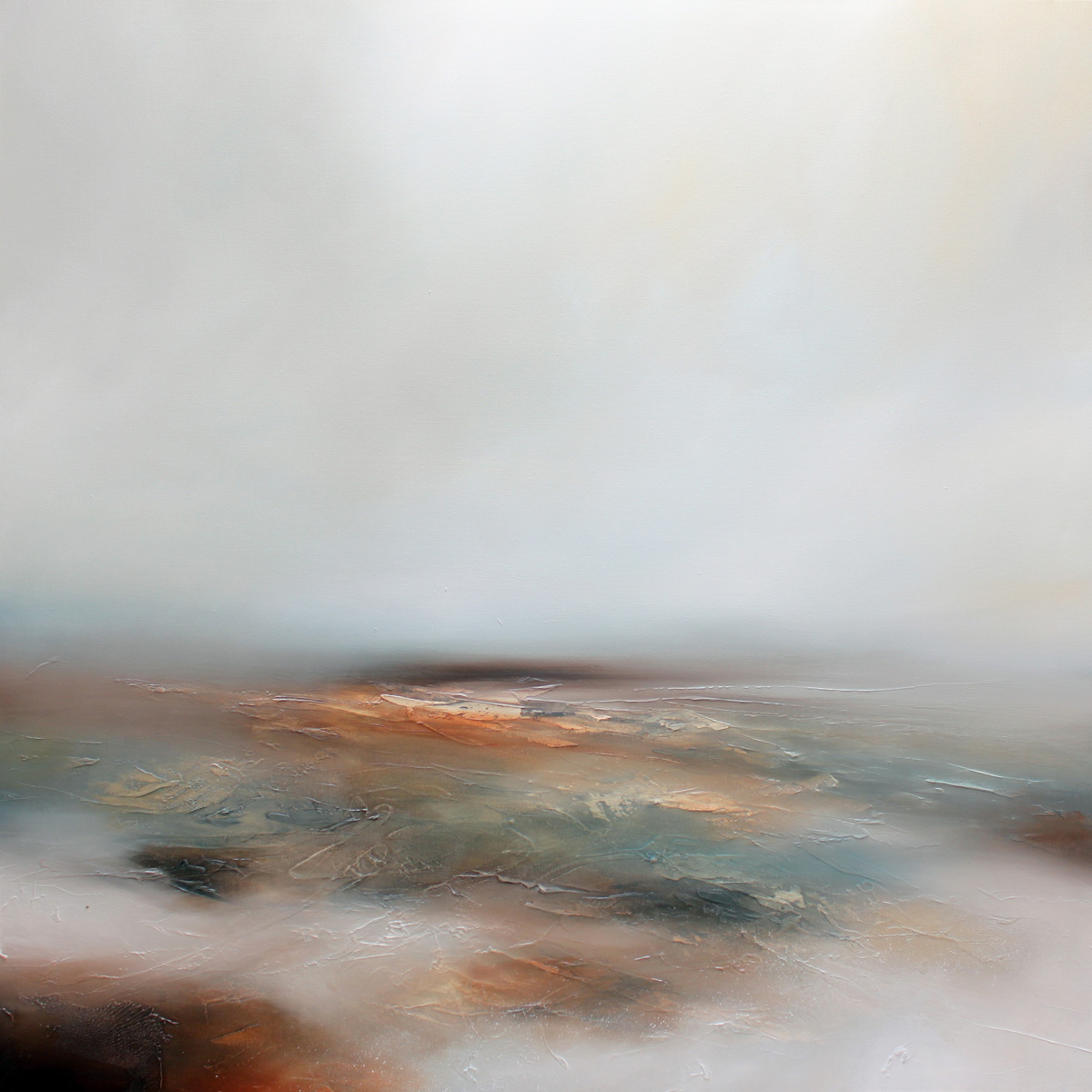 Morning Mist Seascape and Landscape Painting