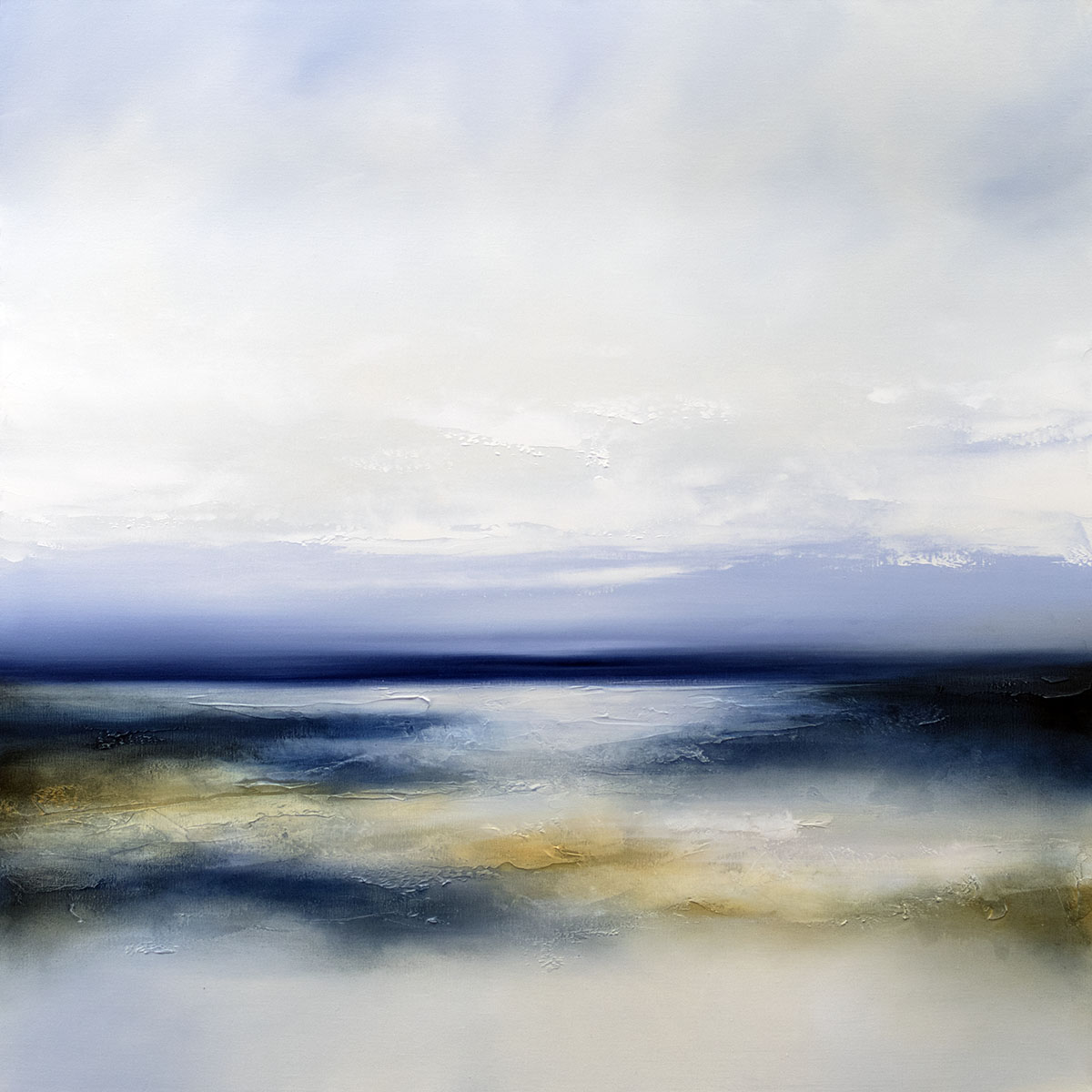 Noon Coast Seascape and Landscape Painting