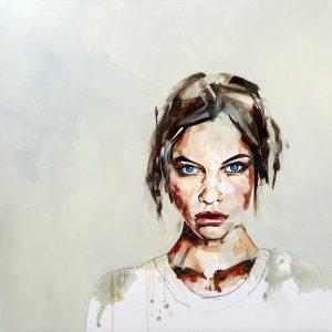 Restless Girl Portrait Painting
