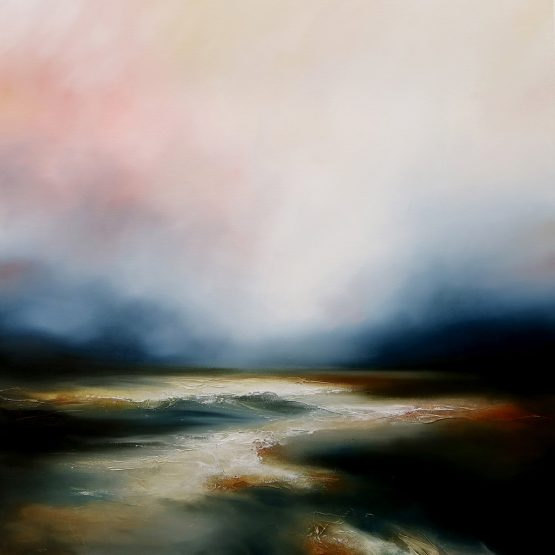 Running Dawn Seascape and Landscape Painting