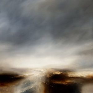 The Burning Drift Seascape and Landscape Painting