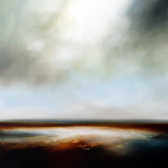 The Burning Sea Seascape and Landscape Painting