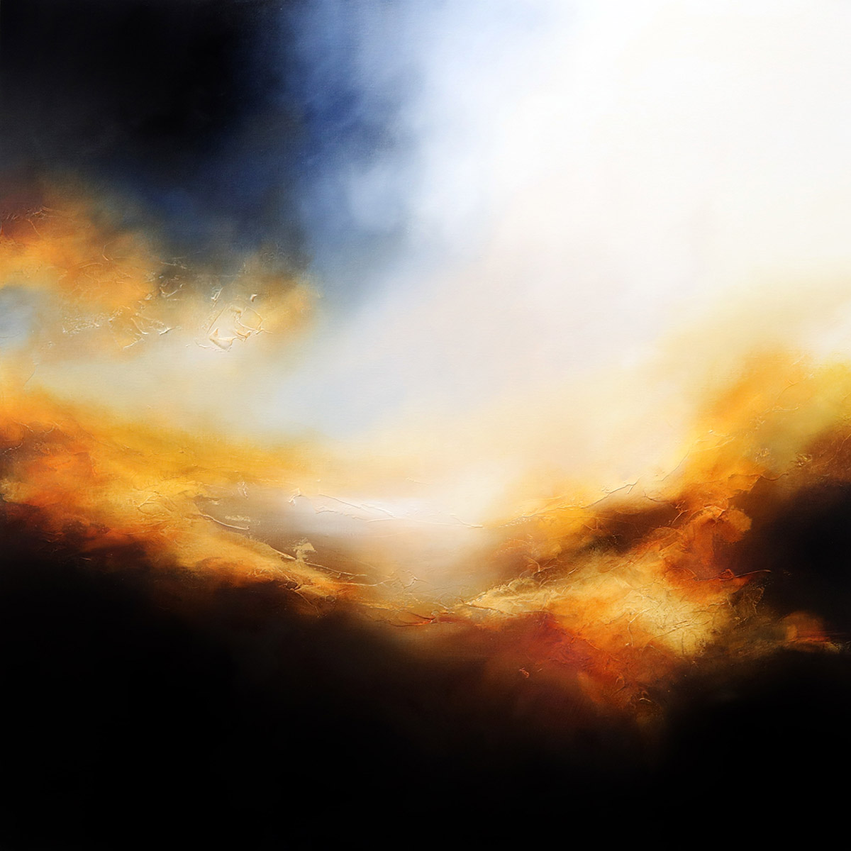 The Dying of the Light Abstract Painting