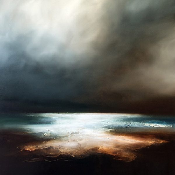 The Ends of Autumn Seascape and Landscape Painting