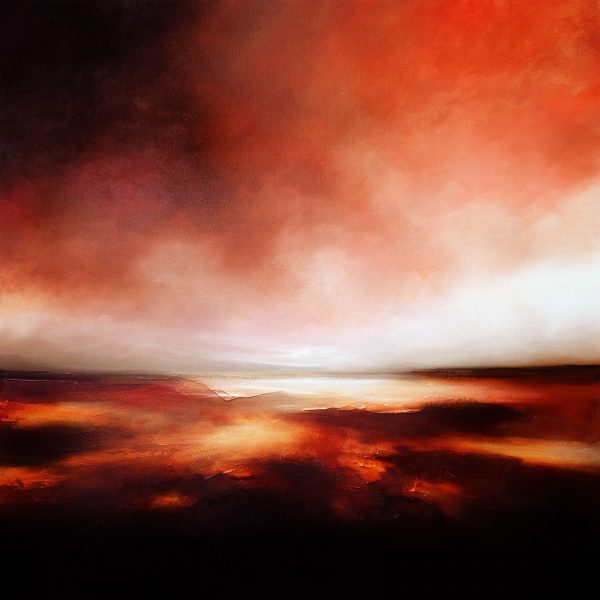 The Flaming Sea Seascape and Landscape Painting