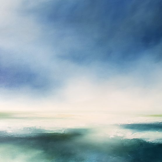 The Tranquil Seas Seascape and Landscape Painting