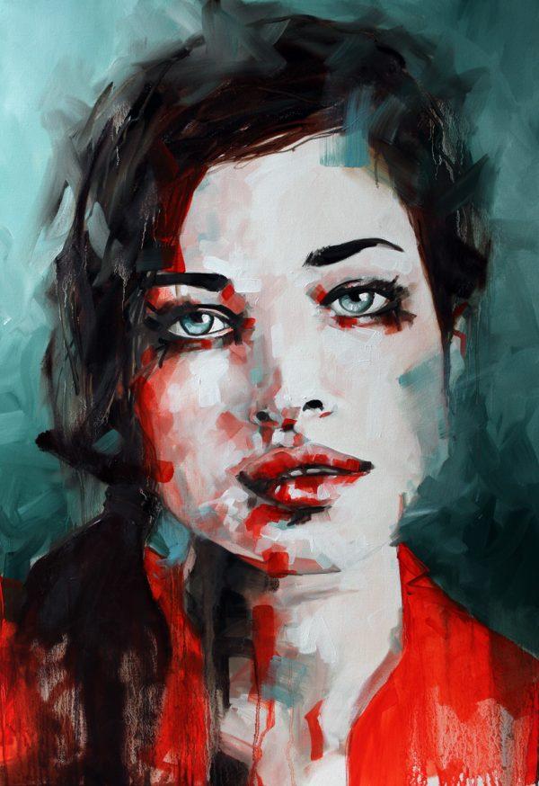 Watch Me Now Portrait Painting