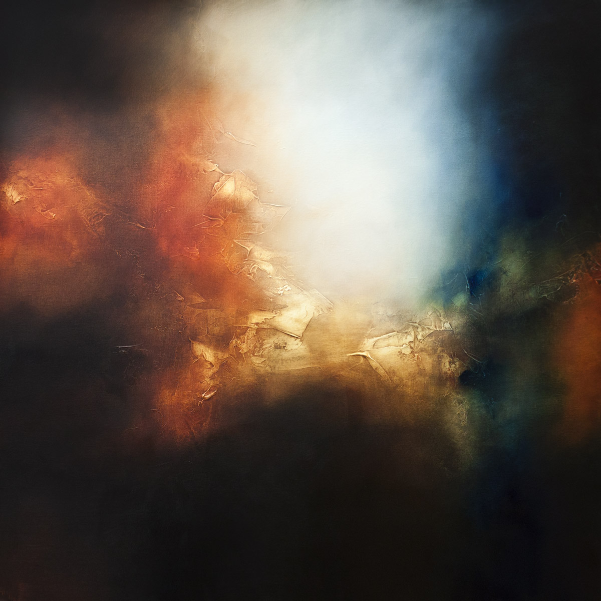 When the Sunshine Turns to Rain Abstract Painting