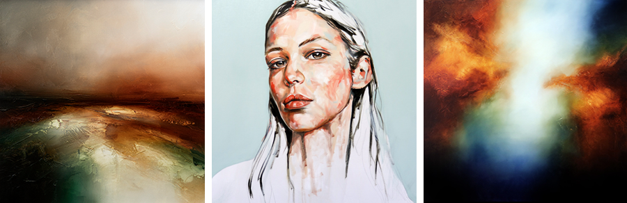 Landscapes, Portraits and Abstract Paintings