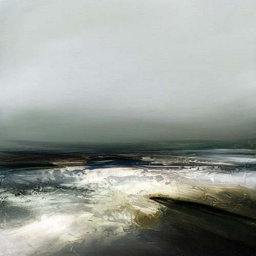 Grey Tides Seascape Painting